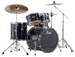 Pearl EXX725S/C 5-Piece Export New Fusion Drum Set with Hardware – Jet Black