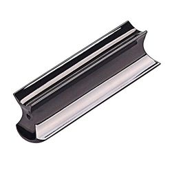 Black Stainless Steel Guitar Slide Tone Bar for Dobro, Lap Steel Guitar, Hawaiian Guitar, Electr ...