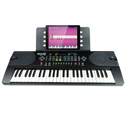 RockJam (RJ549) 49-Key Portable Electric Keyboard Piano With Power Supply, Sheet Music Stand and ...