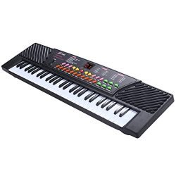 Tangkula 54-Key Electronic Keyboard for Kids Beginners with Mic & Adapter Including LED Digi ...
