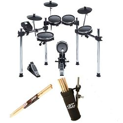 Alesis SURGE MESH KIT Eight-Piece Electronic Drum Kit with Mesh Heads + On Stage Drum Stick Hold ...