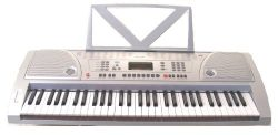 Huntington KB61-100 61-Key Portable Electronic Keyboard,  Silver