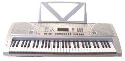 Huntington KB61-100 61-Key Portable Electronic Keyboard,  Silver