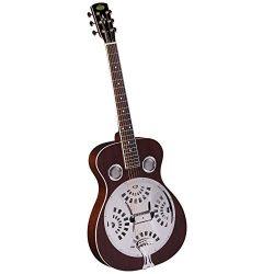 Regal RD-40M Studio Series Roundneck Resophonic Guitar – Natural Mahogany