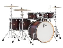 Gretsch CM1E826PSDCB 2014 Catalina Maple 6-Piece Shell Pack with 8″ Tom Tom, Satin Deep Ch ...