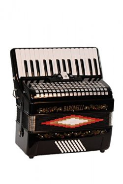 Baronelli Premium Black 30 Key Piano Accordion with Free Lessons & Directly Cheap  Blue Medi ...