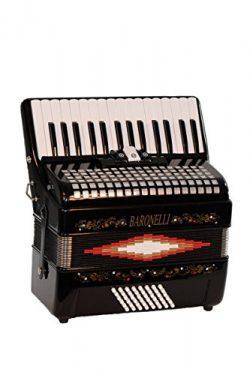 Baronelli Premium Black 30 Key Piano Accordion with Free Lessons & Directly Cheap  Blue Medi ...