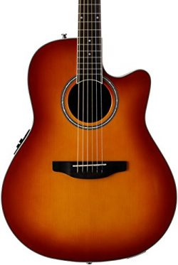 Ovation Applause 6 String Acoustic-Electric Guitar Right, Honey Burst Mid-Depth AB24II-HB