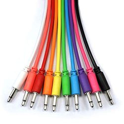 Mono Modular Cables – TS 3.5mm 1/8 inch – Patch Synth Eurorack – 10 Pieces wit ...