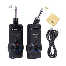 Koogo Guitar Wireless System Transmitter Receiver for Electric Guitar Bass Violin with Rechargab ...