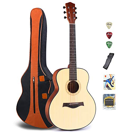 Acoustic Guitar Folk Guitar Mahogany Wood Beginner Guitar Kit First Begining Fingerstyle Little  ...