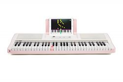 Smart Piano Keyboard 61-Key Portable Light Digital Piano Keyboard,Electronic Keyboard Music LED, ...