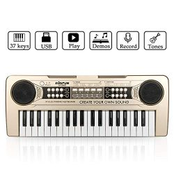 Piano for Kids, JINRUCHE 37Keys Multi-function Electronic Keyboard Piano Play Piano Organ with M ...