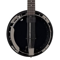 Dean Backwoods 6 Six-String Banjo with Pickup, Black Chrome