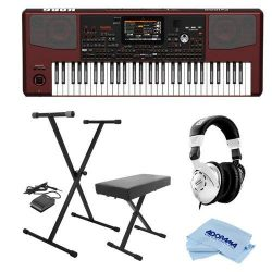 Korg Pa1000 Professional Arranger Keyboard, 61 Semi-weighted Keys (C2-C7) – Bundle With On ...