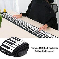 Tbest Portable Flexible 88 Keys Electronic Keyboard Hand Rolling Up Piano Built-in 1100mAh Li-on ...