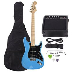 ISIN Full Size Electric Guitar for Beginner with Amp and Accessories Pack Guitar Bag (Sky Blue)…