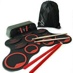 "MINIARTIS Roll Up Drum Kit –""Bass Gen"" Portable Electronic Drum Set with Built-In Sp ..."