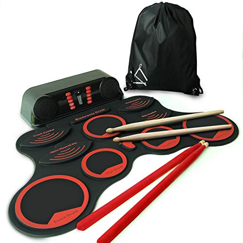 """MINIARTIS Roll Up Drum Kit –""""Bass Gen"""" Portable Electronic Drum Set with Built-In Sp ..."""