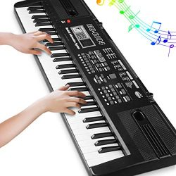 Digital Music Piano Keyboard 61 Key – Portable Electronic Musical Instrument with Micropho ...