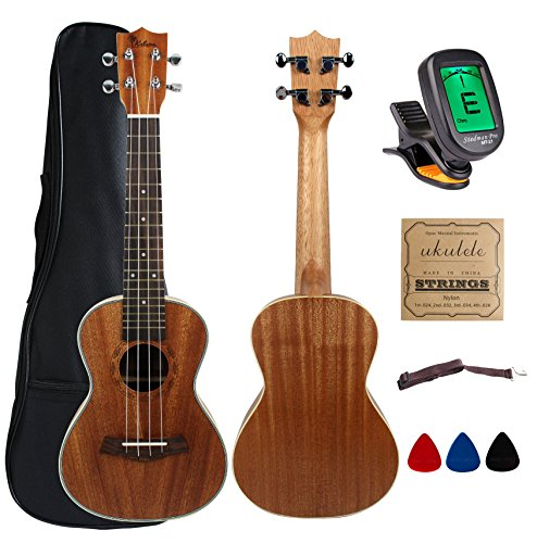 kulana deluxe concert ukulele mahogany wood with binding and aquila strings gig bag. Black Bedroom Furniture Sets. Home Design Ideas