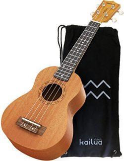Kailua 4 String Soprano Ukulele – Hand Crafted Mahogany Wood Vintage Style Hawaiian Musica ...