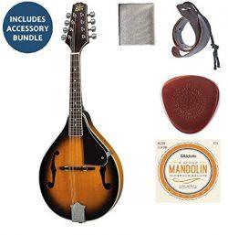 Rogue RM-100A A-Style Mandolin Sunburst Bundle With Planet Waves Mandolin Strap+D'Addario  ...