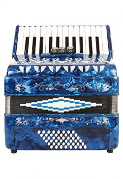 Rossetti Piano Accordion 48 Bass 16 Keys 3 Switches Blue