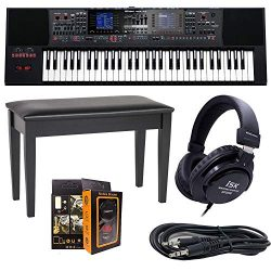 Roland PK E-A7 61 Key Expandable Arranger Keyboard + ISK HP2000 Headphone + DPB-500CBD Duet Pian ...