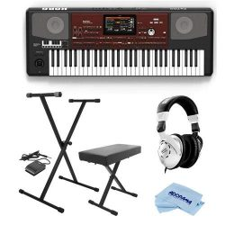 Korg Pa700 Oriental 61 Keys Velocity Sensitive Pro Arranger Keyboard, Physical Quarter Tone SubS ...