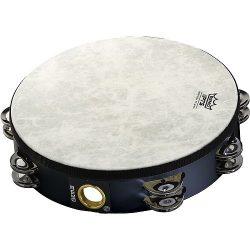 Remo TA-5210-70 Fiberskyn Tambourine – Quadura Black, 10″
