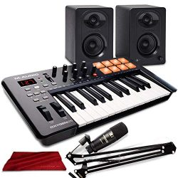 M-Audio Oxygen 25 MK IV USB Pad/MIDI Keyboard Controller with Marantz Professional Pod Pack 1 US ...