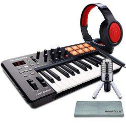 M-Audio Oxygen 25 MK IV USB Pad/MIDI Keyboard Controller with Samson Meteor Mic USB Studio Conde ...