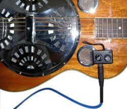 TRICONE METAL BODY RESONATOR GUITAR PICKUP with FLEXIBLE MICRO-GOOSE NECK by Myers Pickups ~ See ...
