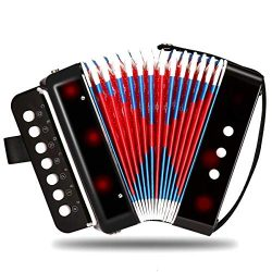 Children Musical Toy Instrument – 7 Keys 2 Bass Kid's Toy Accordion Rhythm Band Toy  ...