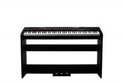 Artesia Harmony 88 Weighted Key Digital Piano – (Black) with with Matching Furniture Stand ...