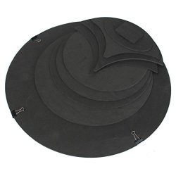 Loria 10PCS/Set High Hardness Drum Sound Off Quiet Rubber Foam Bass Snare Practice Silencer Pad  ...