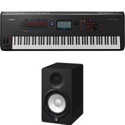 Yamaha Montage8 Synthesizer Workstation with Yamaha HS5 Studio Monitors
