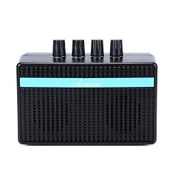 Bass amp Mini Bass Combo 3W Bass Guitar Amplifier with Distortion Effect and Headphone Jack for  ...
