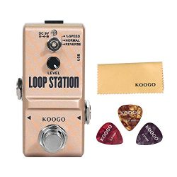 Koogo Mini Looper Guitar Effect Pedal 10 minutes of Looping 3 Modes