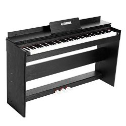 LAGRIMA Digital Piano with 88 Weighted Hammer Action Keys, Bundle with Music Stand+Power Adapter ...