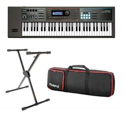 Full Compass Exclusive JUNO-DS61-K – 61-Key Synthesizer with Single Brace Keyboard Stand a ...