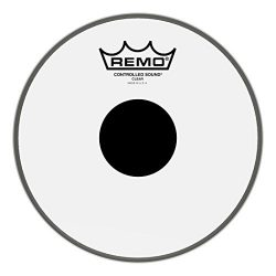 Remo Controlled Sound Clear Drum Head with Black Dot – 8 Inch