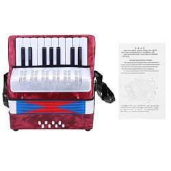 Children Accordion Music Toy 17 Key 8 Bass Accordion Educational Toys Music Instruments for Begi ...