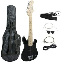 "ZENY 30"" Electric Guitar Set Beginner Kits for Kids with Gig Bag,Cable,Strap (Black)"