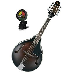 Ibanez M510DVS A-Style Mandolin in Dark Violin Sunburst with Clip on Tuner