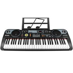 ZJTL 61-Key Digital Electric Piano Keyboard &Music Stand &microphone- Portable Electroni ...