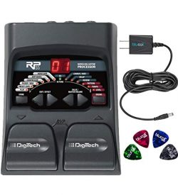 DigiTech RP55 Multi-FX Pedal with Built-In Guitar Tuner Bundle with Blucoil Power Supply Slim AC ...