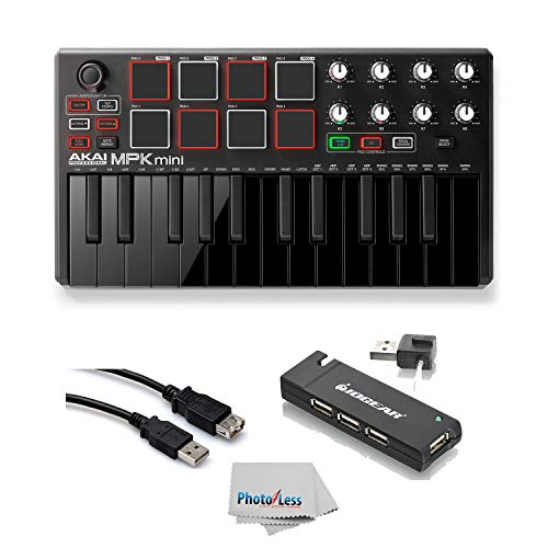akai professional mpk mini mk2 mkii 25 key ultra portable usb midi drum pad keyboard. Black Bedroom Furniture Sets. Home Design Ideas