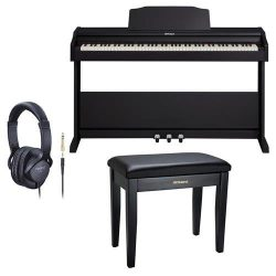 Roland RP-102 88 Key Digital Piano, Black – Bundle With Roland Piano Bench with Cushioned  ...